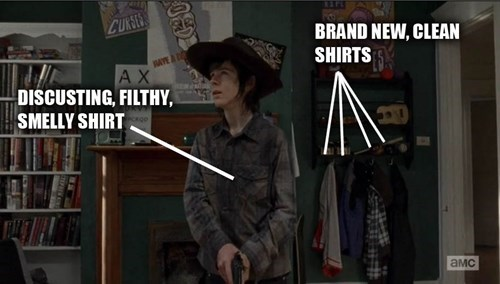 laundry,carl grimes,The Walking Dead