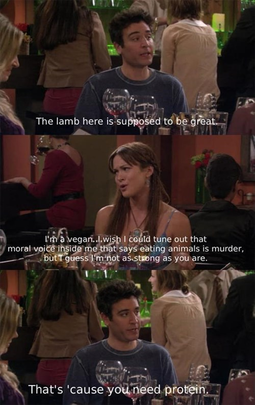 vegans how i met your mother TV funny - 8056225792