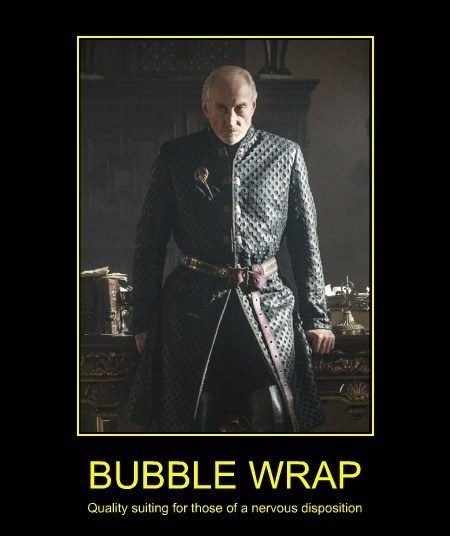 funny Game of Thrones bubble wrap coat - 8056320256