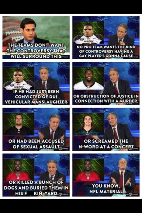 michael sam,nfl,jon stewart,the daily show,football
