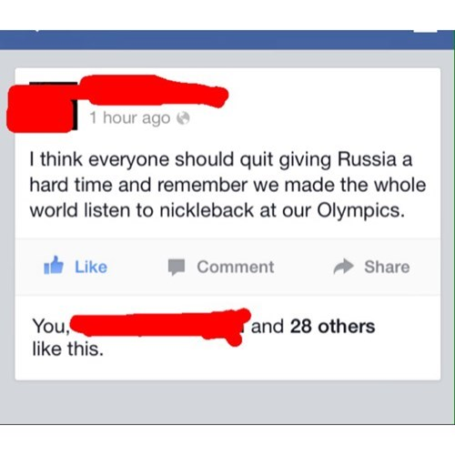 Canada,Sochi 2014,nickelback,failbook,g rated