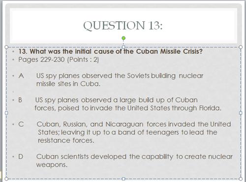 history quiz cuban missile crisis - 8057689088