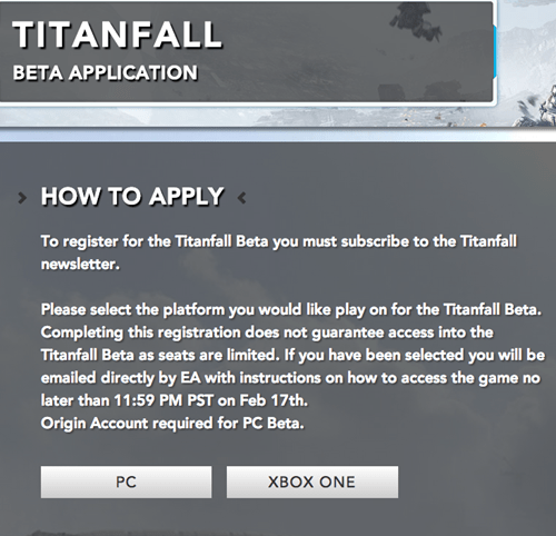 titanfall,beta,pc gaming,xbone,Video Game Coverage