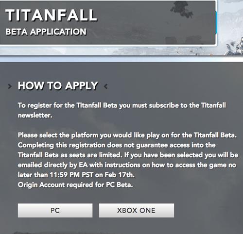 titanfall beta pc gaming xbone Video Game Coverage - 8057717248