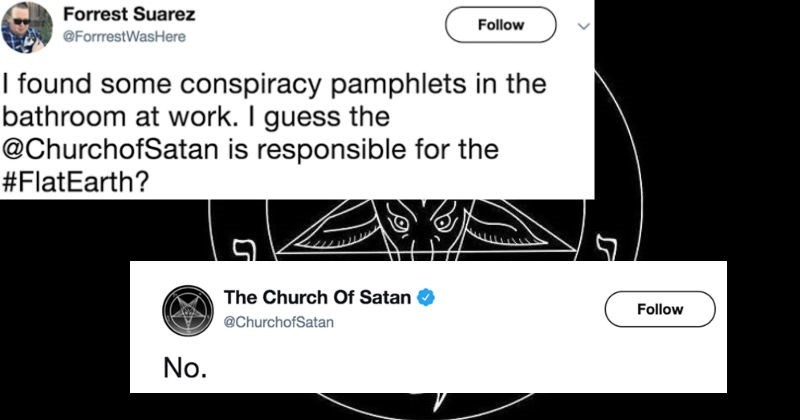 funny tweets from the church of satan