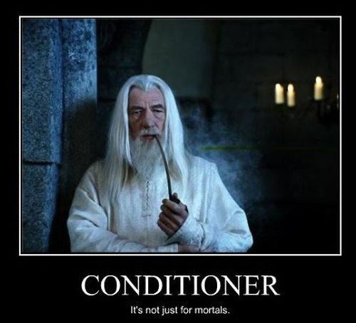 hair,Lord of the Rings,gandalf,garnier,conditioner,funny