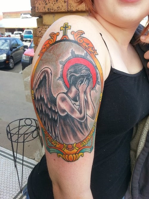 weeping angels nerdgasm tattoos doctor who - 8058187008