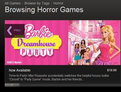 steam,Barbie,horror games