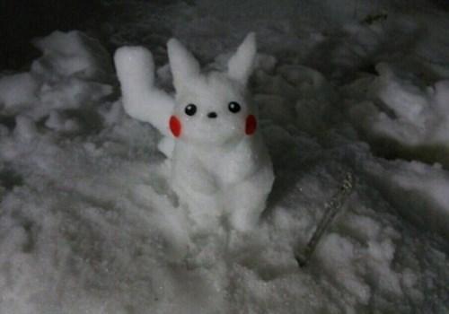 snow IRL pikachu - 8058222336