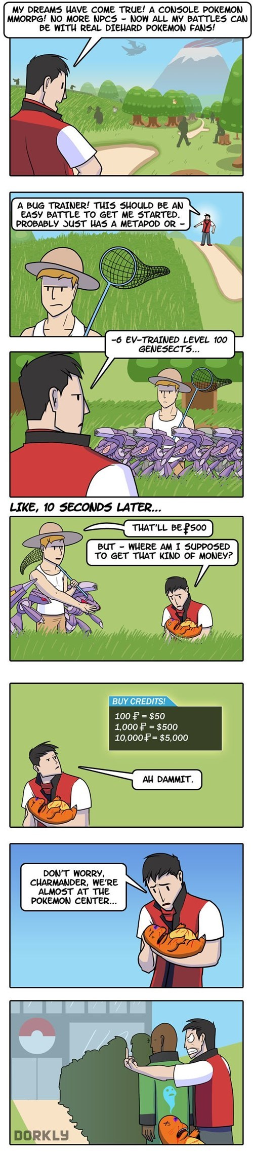 Pokémon,dorkly,web comics,MMO