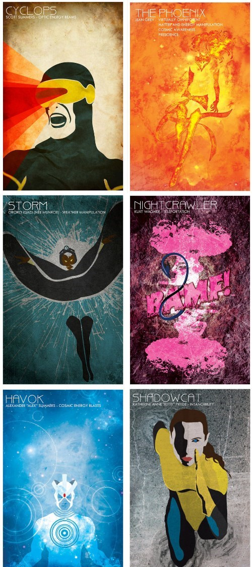 X-Men Team Posters - Superheroes - superheroes, batman, superman