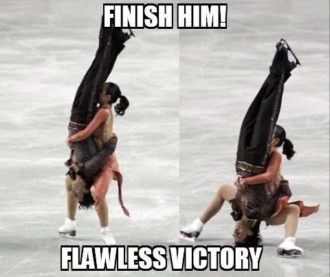 figure skating Flawless Victory Mortal Kombat Sochi 2014 finish him olympics - 8058350592