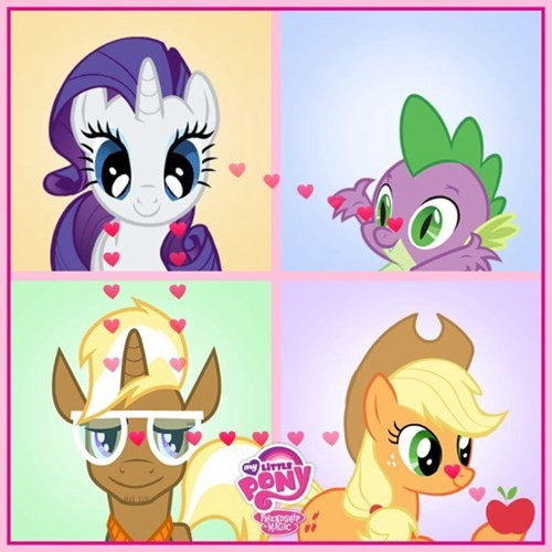 spike applejack trenderhoof rarity apples - 8058500352