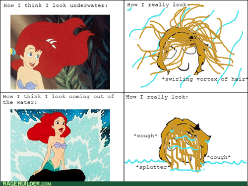 hair disney expectation vs. reality The Little Mermaid - 8059160064