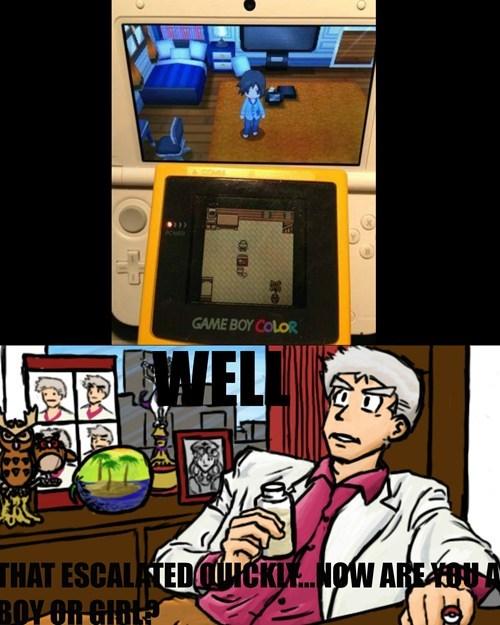 Pokémon evolution professor oak Memes