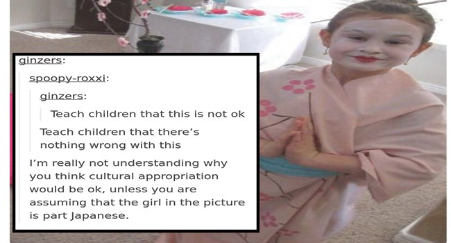 person claims little girl dressed as geisha is racist