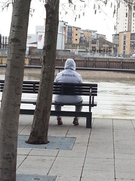 poorly dressed sweatshirt hoodie bench - 8059951616