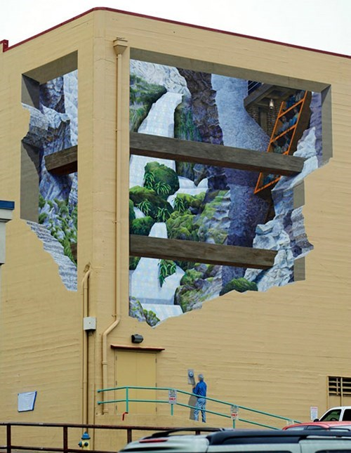 Street Art hacked irl perspective illusion g rated win - 8060446464