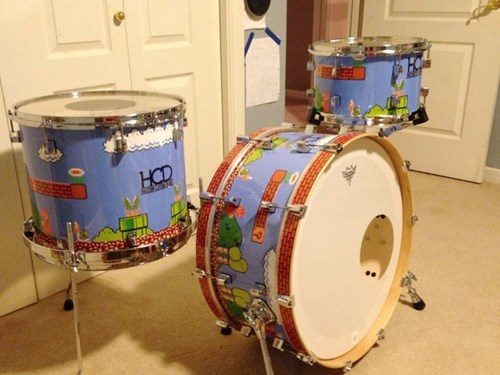 nerdgasm,video games,drums,mario