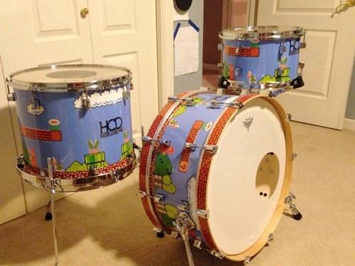 nerdgasm video games drums mario - 8060452608