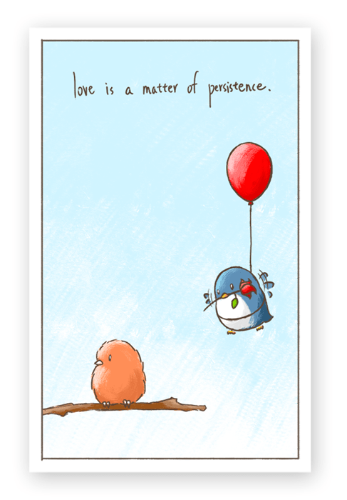 birds cute web comics Valentines day - 8060503808