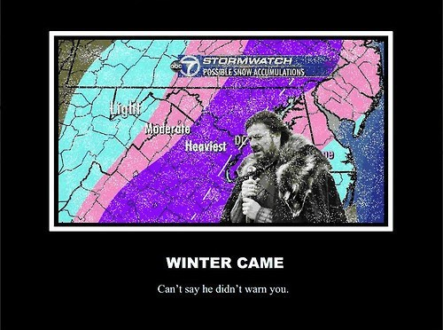 Winter Is Coming Game of Thrones weather funny