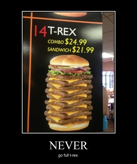 tyrannosaurus rex burger funny dinosaurs - 8060685312