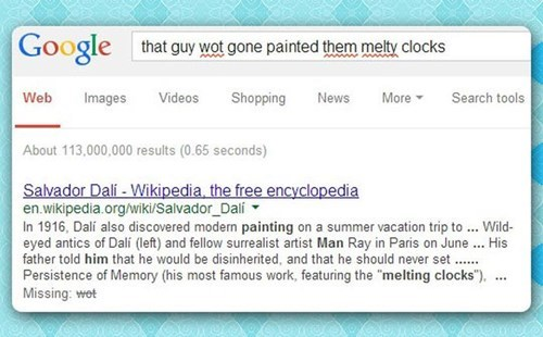 salvador Dali,autocomplete,google