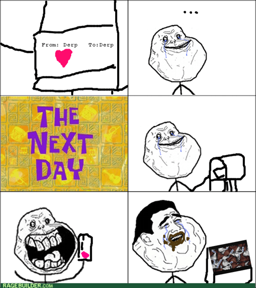 candy,forever alone,mail,Valentines day