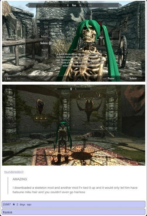 scary wtf waifu skeletons Skyrim