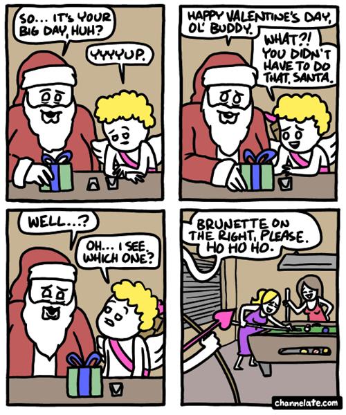 comics cupid santa web comics Valentines day - 8062747648