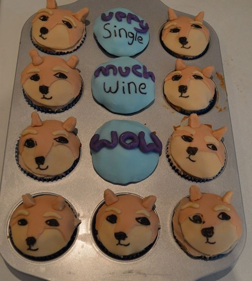 doge cupcakes Valentines day - 8062785024