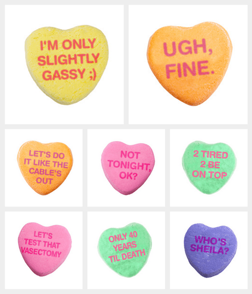 candy funny Valentines day sweethearts - 8062901504