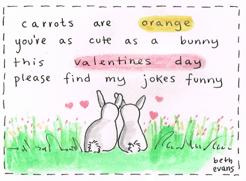 bunnies cute poems rabbits Valentines day - 8062940672