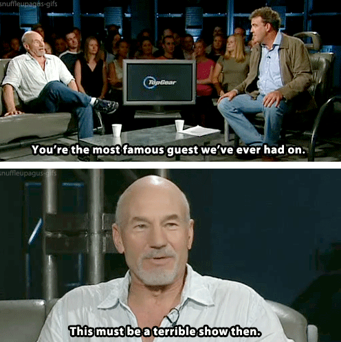 Captain Picard,Star Trek,interview,funny