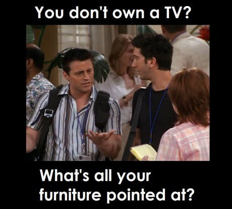 friends wierd TV confused Joey - 8062984704