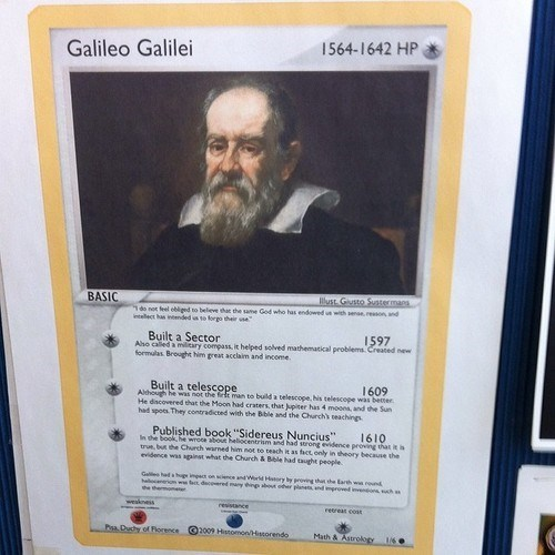 galileo trading card game science funny - 8062999552