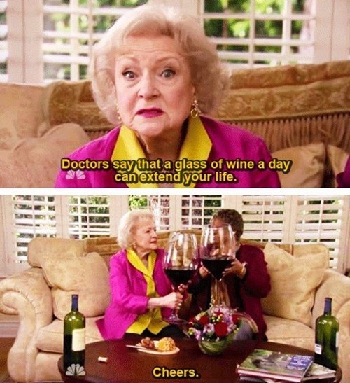 drinking wine betty white funny - 8063000064
