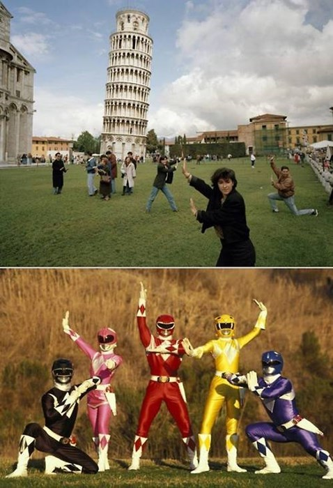 power rangers leaning tower of pisa - 8063033856