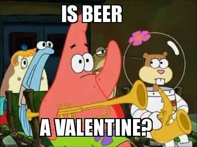 beer patrick star SpongeBob SquarePants patrick Valentines day - 8063043840