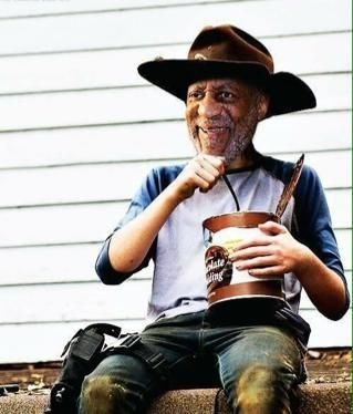 bill cosby,carl grimes,pudding