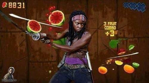 michonne fruit ninja The Walking Dead - 8063110144