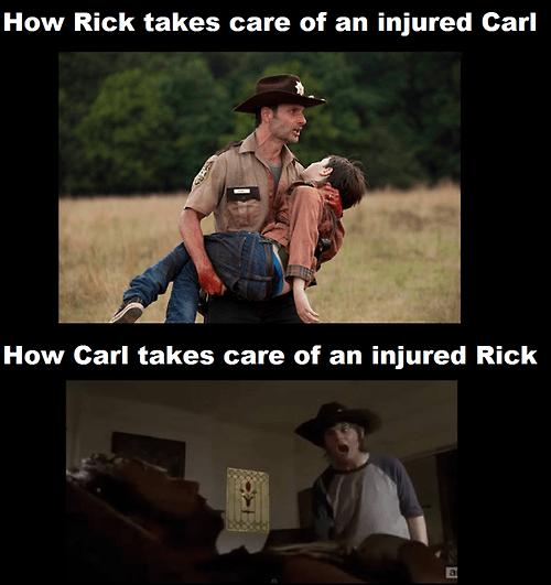 Rick Grimes injury carl grimes - 8063150336