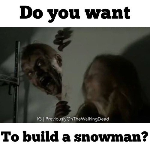 zombie frozen The Walking Dead - 8063152128
