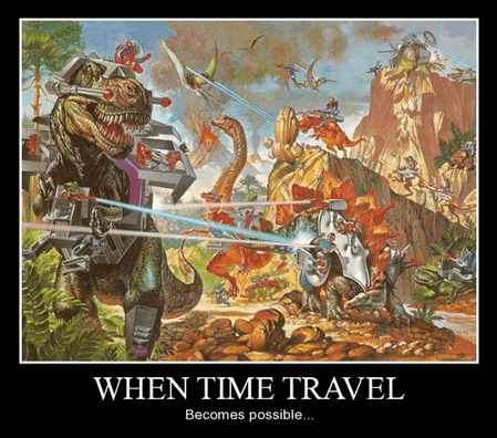 time travel,funny,dinosaurs