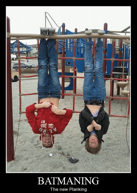 Planking batman funny upside down - 8063179008