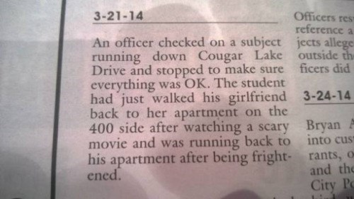 We Wish We Knew the Backstory to These Ridiculous Newspaper Police Reports