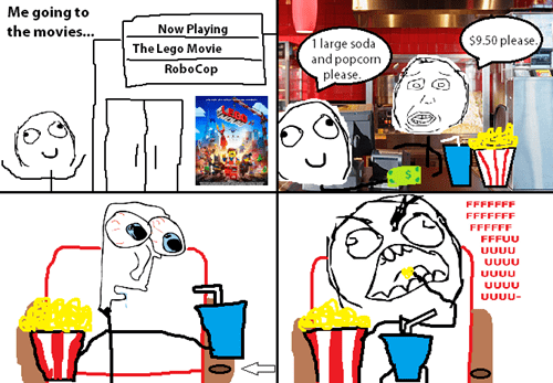 rage soda movie theater Popcorn cup holder - 8064815360