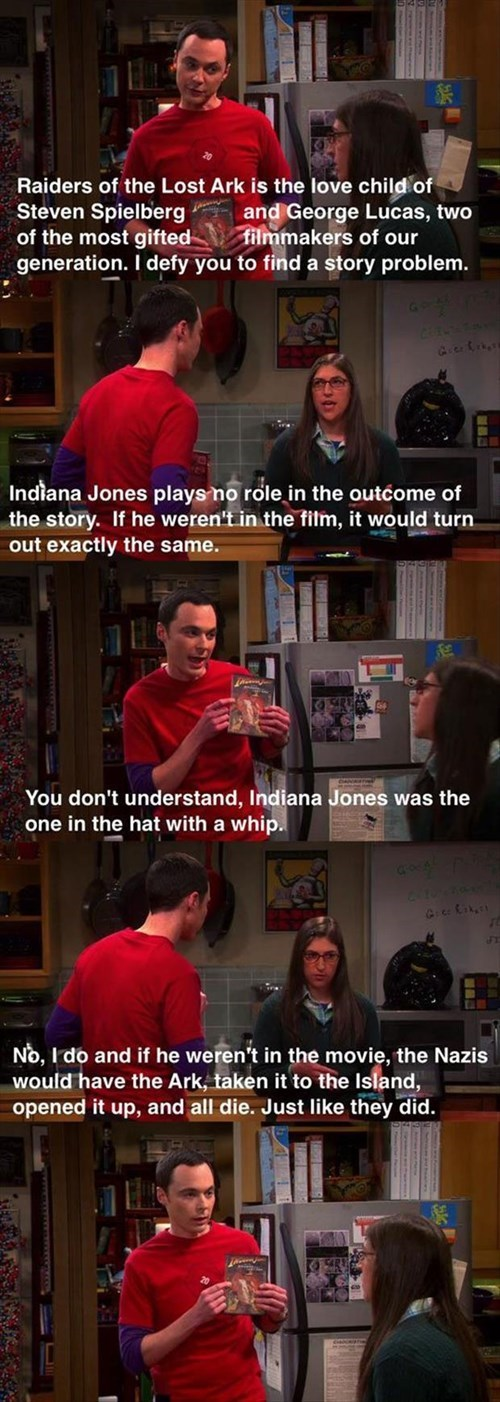 Indiana Jones movies the big bang theory - 8067014400