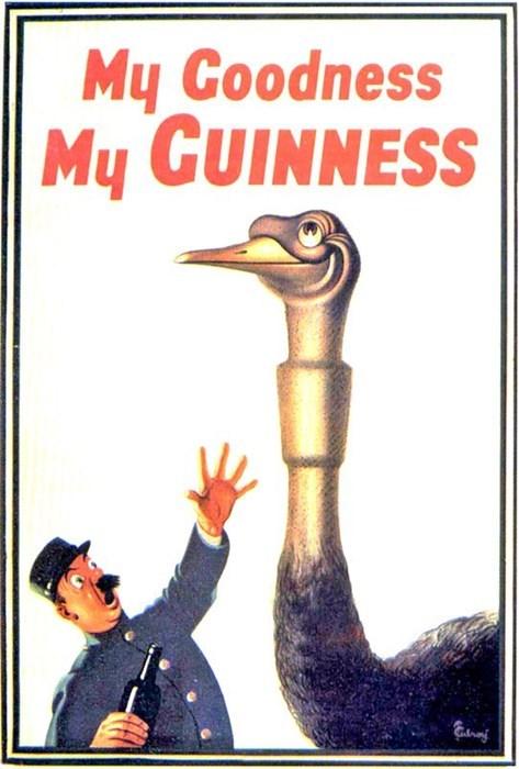 beer ads guinness funny vintage - 8067563520